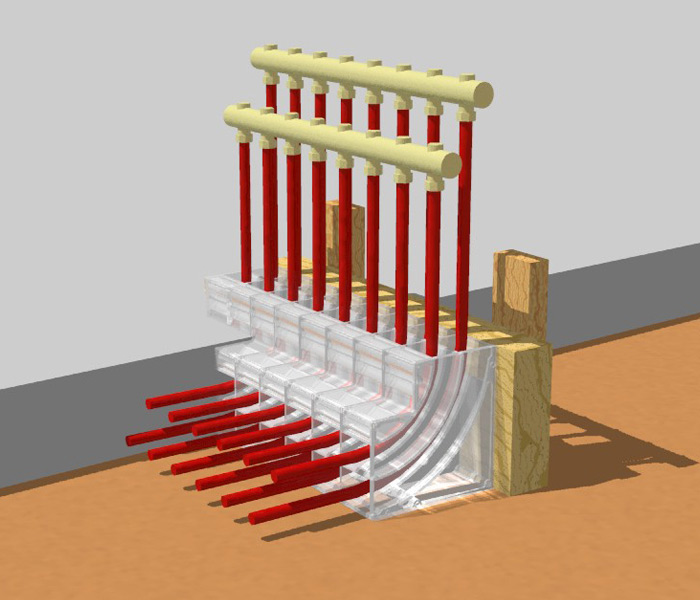 Pex Pal In Floor Heating Organizer Collector Axiom